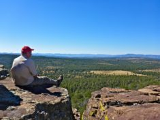 Looking across the Hunt Ranch, and Hardscrabble Mesa, in the general direction of Pine Mountain.