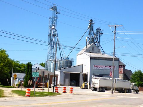 Like I say in the video, a typical small Wisconsin town has bars on two corners, a church on the third corner, and a grain elevator on the fourth corner.